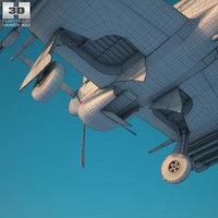 3D model hawker typhoon