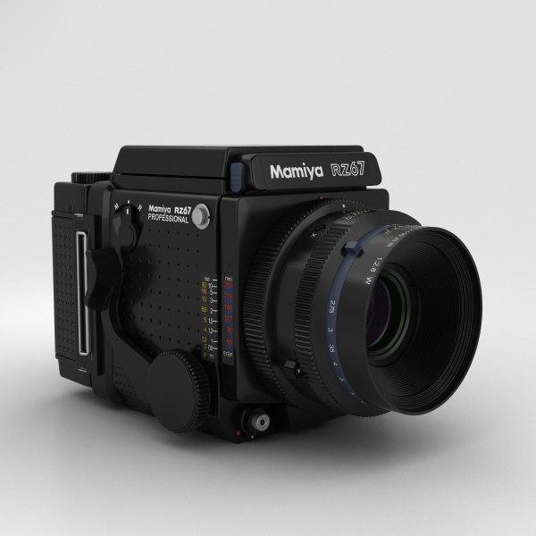 mamiya rz67 3D model