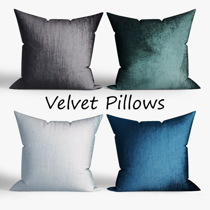 3D decorative pillows westelm set model