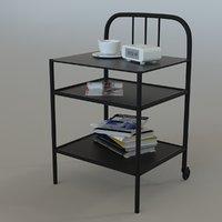 ikea fyresdal bedside table 3D model