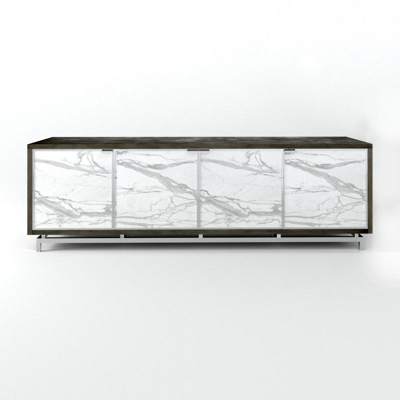 sora four-door credenza doors 3D model