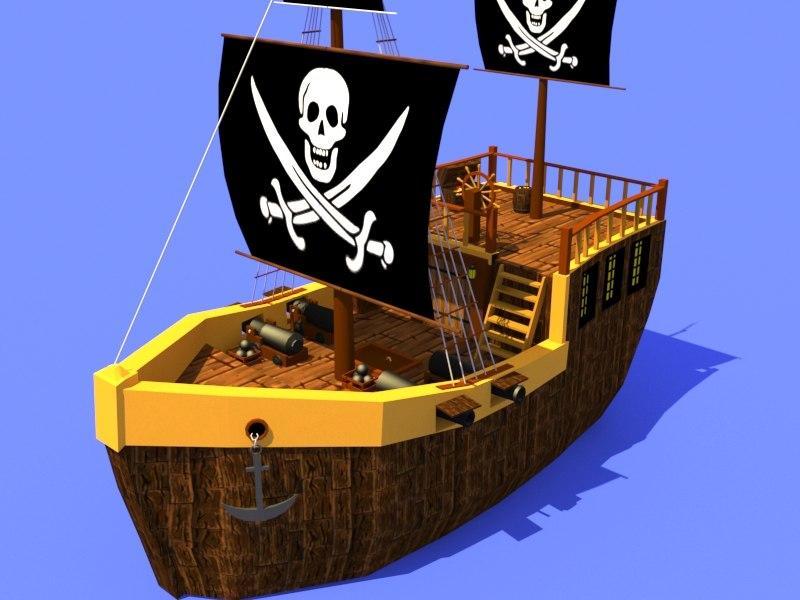3D pirate ship