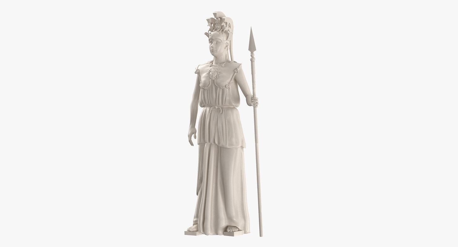 statue athena promachos 3D model
