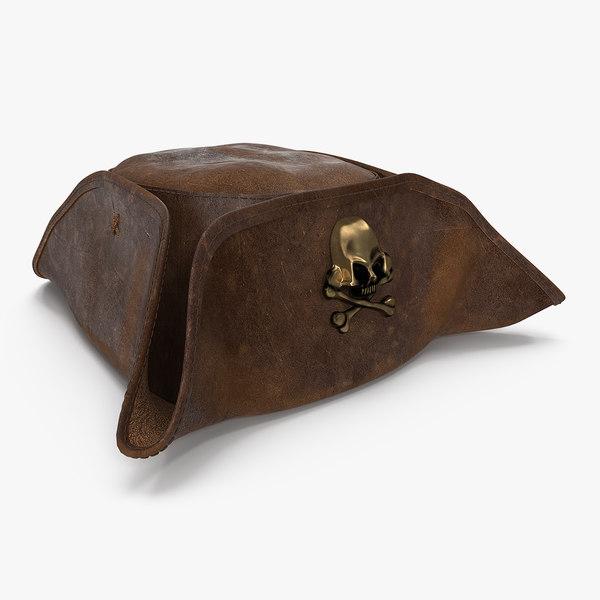 3D skull crossbones pirate hat model