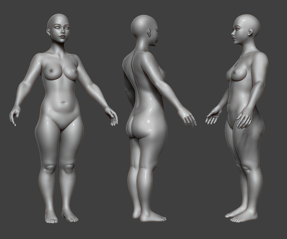 female body base 3D