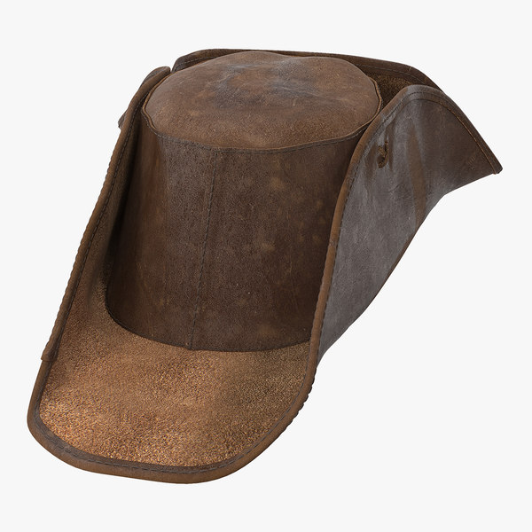 leather pirate hat 3D model