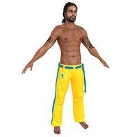 capoeira martial artist 3D