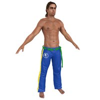 capoeira martial artist 3D model