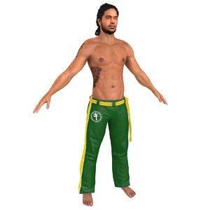 3D capoeira martial artist
