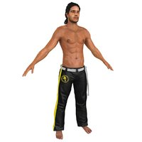 3D capoeira martial artist model