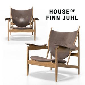 finn juhl chieftain chair 3D model