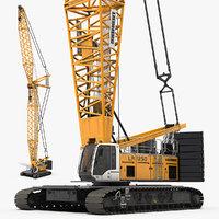 3D crawler crane liebherr lr1250 model