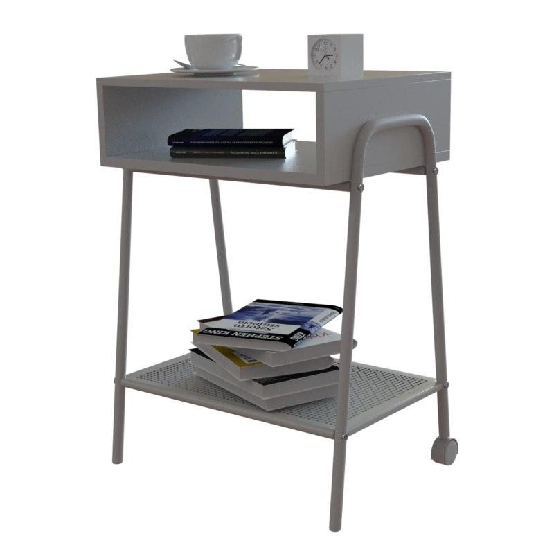 3D ikea setskog bedside table