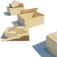 architecture model with box