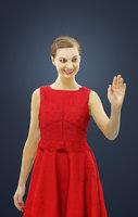 waving caucasian standing 3D model