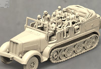 3D military german soldiers armored personnel