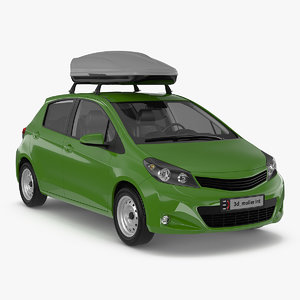 3D hatchback roofbox generic model