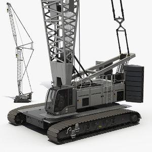 lattice boom crane generic 3D model