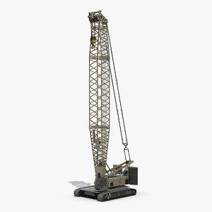 3D lattice boom crawler crane