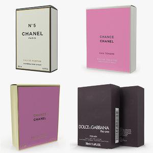 parfum boxes 3D model