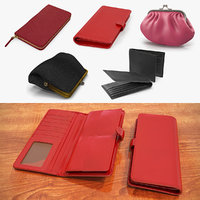 Purse Wallets 3D Models Collection 2