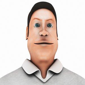 man cartoon model