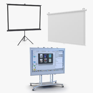 projection screens 3D model