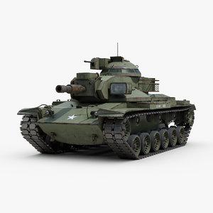 m60a2 starship battle tank 3D model