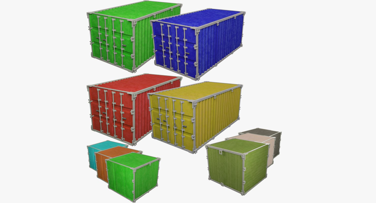 3D model cargo containers v4