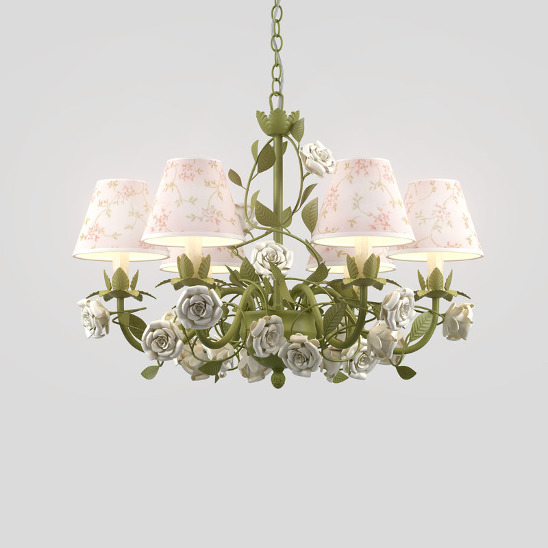 chandelier fiori di rose 3D model