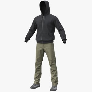 3D realistic men s clothes