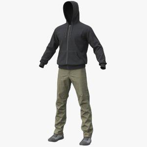 3D realistic men s clothes