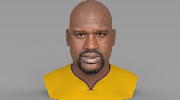 shaquille bust ready printing model