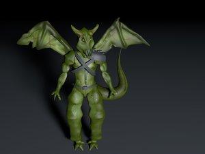 custom demon 3D model