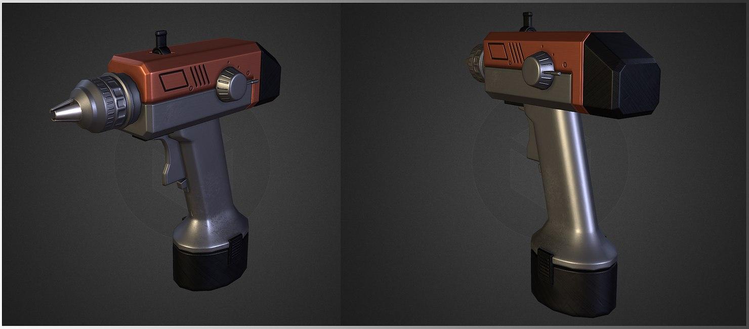 screw screwgun 3D model