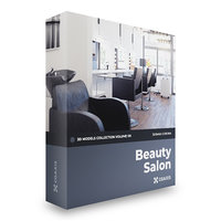 beauty salon volume 101 3D model
