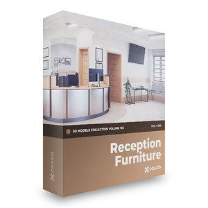 reception furniture volume 102 3D model