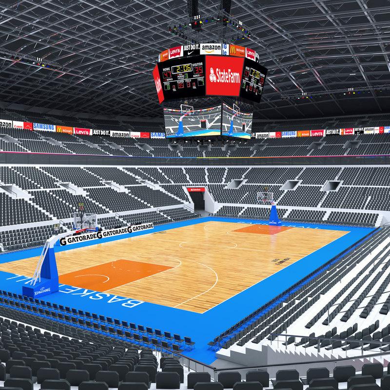 3D basketball basket ball model