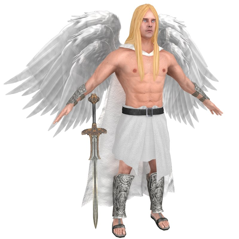 seraphim wings angel 3D model