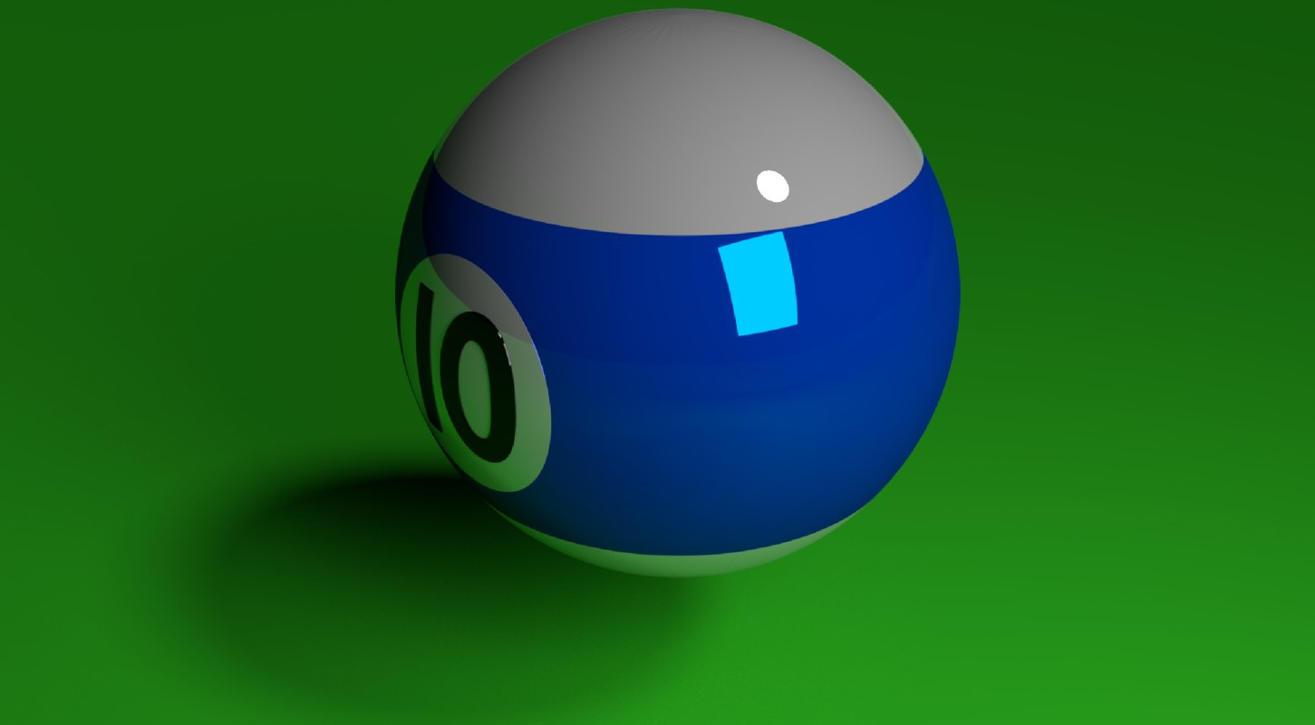 blue poolball 3D model