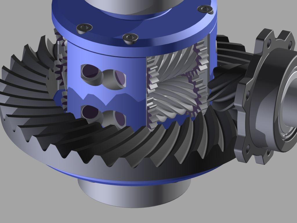 3D automobile differential