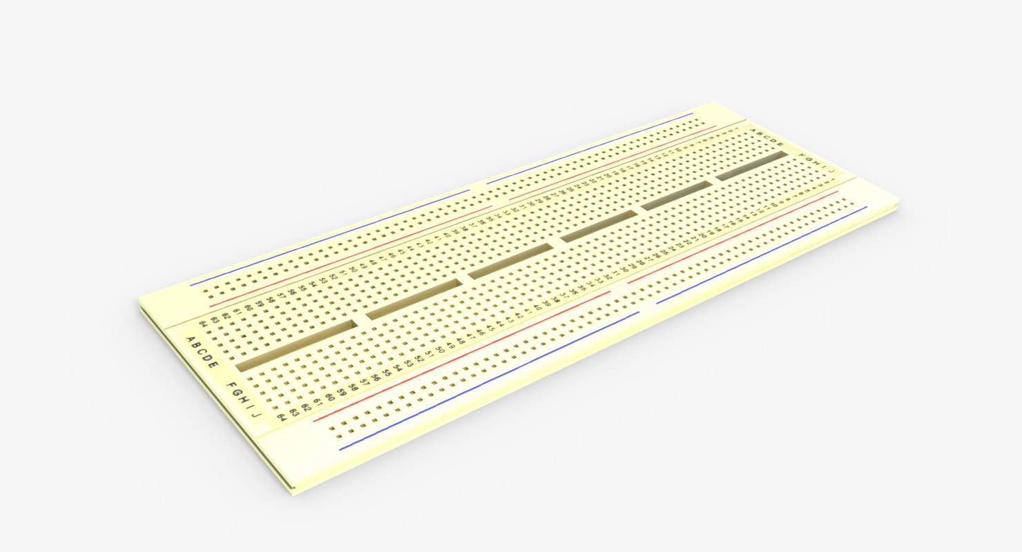 3D breadboard board bread model