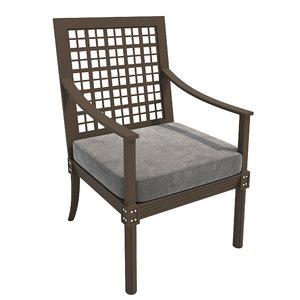 chair quadratl grande 3D model