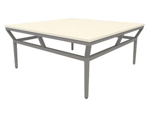 3D model table-002 slant stone coctail
