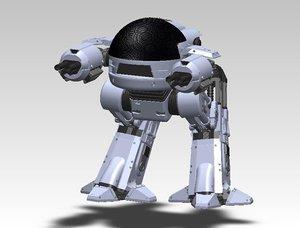 ed-209 solidworks stl 3D model