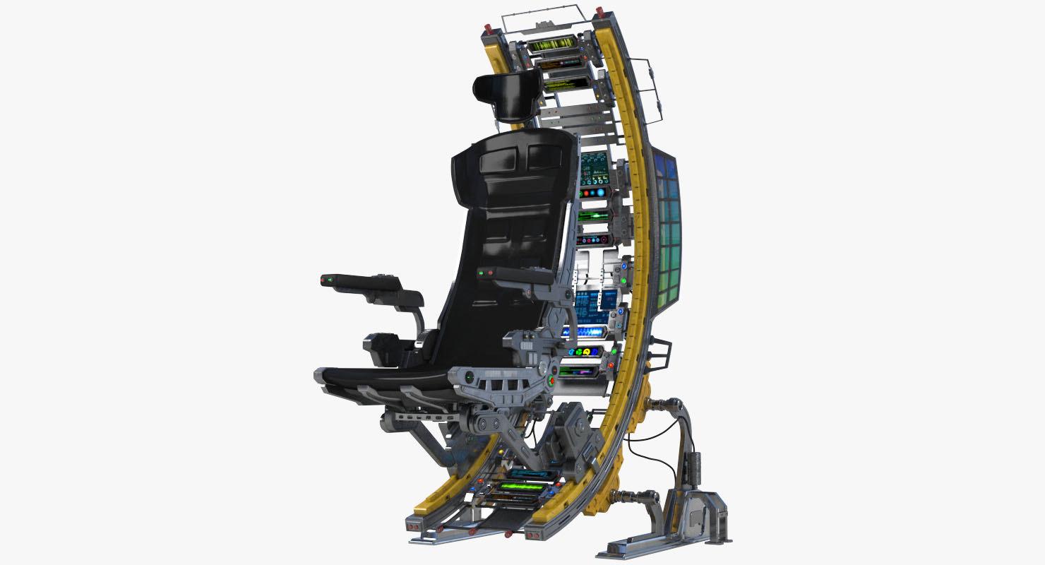 science fiction futuristic chair 3D model
