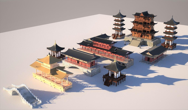 3D set chinese model