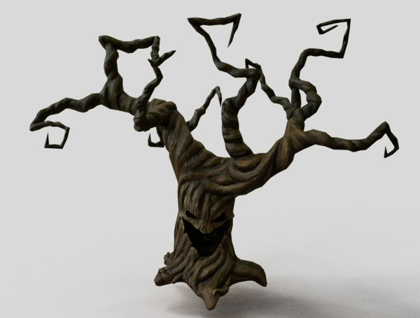 creepy tree wood 3D model