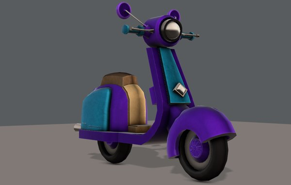 car cartoon scooter 3D model