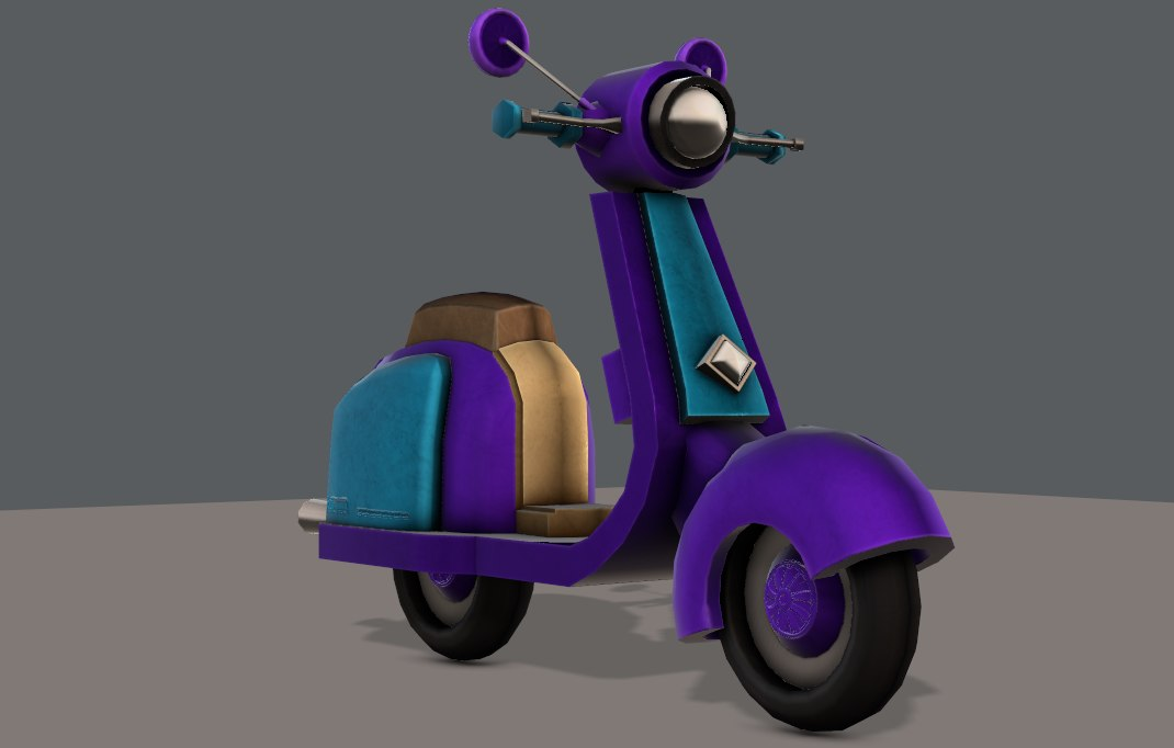 car cartoon scooter 3D model
